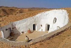 "ilovelibya: ""Cave home with a courtyard Tripoli, Libya """