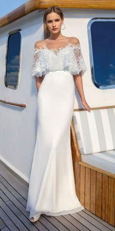 Truly romantic, cute and elegant wedding dress - Bridal Gowns Silver Bridesmaid Dresses, White Wedding Dresses, Cheap Wedding Dress, Bridal Dresses, Wedding Gowns, Lace Wedding, Wedding Dress Sheath, Wedding Ceremony, Wedding Flowers
