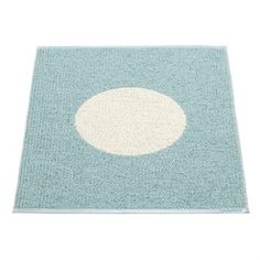 Vera small one rug turquoise - turquoise - Pappelina