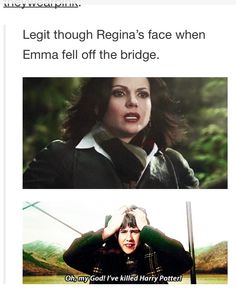 Regina's like uh oh I'm in trouble