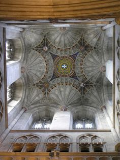 16th century Fan Vaulting, Bell Harry Tower, Canterbury  Cathedral, Kent, England, by Lisa Sjolund
