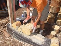 Cordwood Masonry, the Cheap Way to a Mortgage-Free Homestead Earthwood Building School
