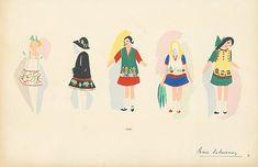Sonia Delaunay fashion illustration 1920