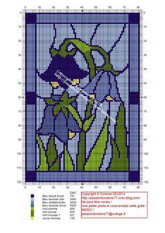 Χειροτεχνήματα: σχέδια βιτρώ για κέντημα / stained glass cross stitch patterns