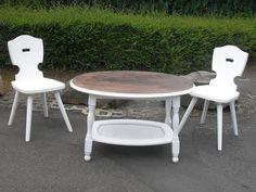 Couchtische - Tisch Couchtisch Shabby Braun Eiche Chippendale - ein Designerstück von Die-Ideenschmiede bei DaWanda