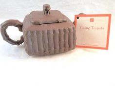 Yixing Zisha Clay Teapot - Beautiful detail and bamboo style pattern. Now in our eBay store!