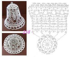 New Crochet Christmas Baubles Cross Stitch Ideas Crochet Christmas Decorations, Crochet Decoration, Crochet Ornaments, Christmas Crochet Patterns, Holiday Crochet, Crochet Snowflakes, Crochet Diagram, Filet Crochet, Crochet Motif