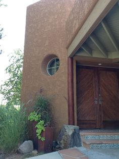 Custom front door and entry tile work
