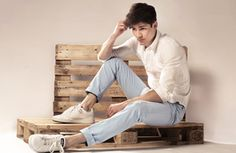 Le Pantalon - Chino Bleu Pastel
