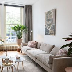 We've spotted our Summer sofa in the home of our Creative Director Plenty of room for the whole family to sit on 😍 Sofa, Couch, Creative Director, Homeschool, Living Room, Interior Design, Summer, Inspiration, Furniture
