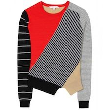 New in: Carven mismatched sweater