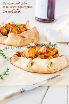 Caramelised Onion and Butternut Pumpkin Crostata recipe #vegetarian | DeliciousEveryday.com