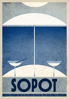 Sopot Polish Sea resort promotion poster Check also other posters from PLAKAT-POLSKA series Original Polish poster designer: Ryszard Kaja year: 2013 size: Art Deco Posters, Cool Posters, Retro Posters, Graphisches Design, Graphic Design, Interior Design, Sopot Poland, Warsaw Poland, Polish Posters