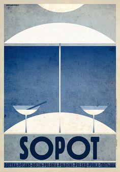 Sopot, Zoppot | Polish Promotion Poster, PLAKAT-POLSKA series, designer: Ryszard…