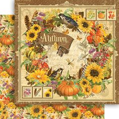Autumn sheet from the collection Seasons by Graphic 45!