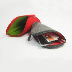 Felt Power Cord Coin Bag Case Bag Mouse Bag The by Filzkraft