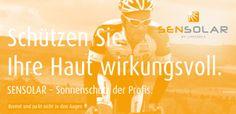 SENSOLAR - Sonnenschutz der Profis. Sonnenschutz, Mückenschutz und Sitzcreme.
