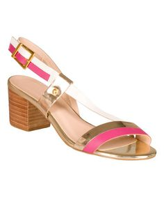 Look what I found on #zulily! White & Pink Sofia Leather Sandal #zulilyfinds