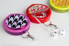 Dollar Store Crafts » Blog Archive » Make a Recycled Earbud Case - Just another cool $1 craft reusing gum/mint candy packaging!
