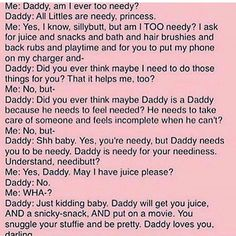 Daddy needs to be daddy...