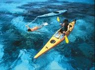 Sea kayaking from Caye to Caye in Belize
