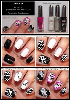 NAIL ART & TUTORIALS / Zigzag Nail Art Tutorial - Fereckels
