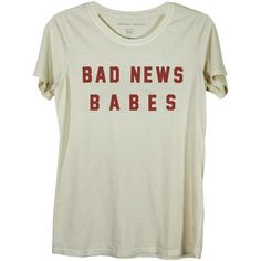 BAD NEWS BABES (1.010 CZK) ❤ liked on Polyvore featuring tops, t-shirts, cotton tee and cotton t shirt