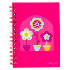 B2s A6 Notebook from Smiggle - flower