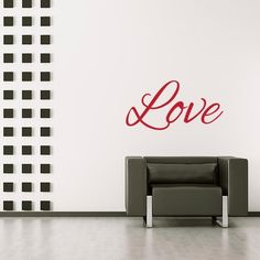 Love Wall Decal $20.00 from Wall Decal World. available in 36 colors