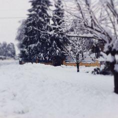 Snow at the village