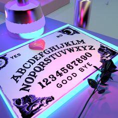 ouija, neon, and aesthetic image Witch Aesthetic, Purple Aesthetic, Aesthetic Light, Music Aesthetic, Retro Aesthetic, Ex Machina, Diy Birthday, Birthday Gifts, Pastel Goth