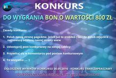 Zapraszam do wzięcia udziału w konkursie do wygrania bon o wartości 800 zł szczegóły na stronie www.page4me.pl/konkurs