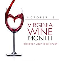 """Whole Foods Market Develops a """"Crush"""" on October Virginia Wine Month -- Virginia Wine Month logo"""