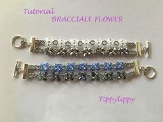 TUTORIAL BRACCIALE FLOWER - YouTube