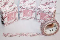 Masking Tape - Masking Tape / Washitape Blütenzweige rosa - ein Designerstück von madonner bei DaWanda