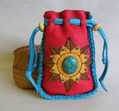 NEW MEXICO SKY medicine bag / spirit pouch by pradoleather on Etsy, $52.00