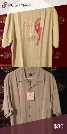 40ad9a5f Spotted while shopping on Poshmark: Tommy Bahama men's silk short sleeve  shirt! #poshmark
