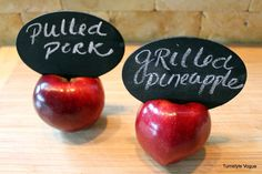Apple & Chalkboard Food Labels for my next dinner party