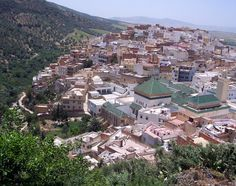 Picture - The holy city of Moulay Idriss, established in A.D. 788. planetware.com