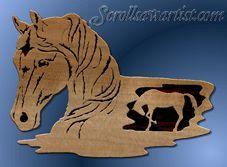 scroll saw projects free pattern Scroll Saw Patterns Free, Scroll Pattern, Cross Patterns, Wood Patterns, Horse Pattern, Pattern Art, Intarsia Woodworking, Woodworking Crafts, Intarsia Patterns