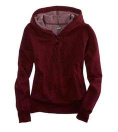 hoodie   dark red // long sleeved