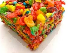 Fruity Pebble Rice Crispy Treats!---I've totally done this and it's AMAZING!!!