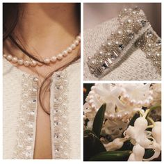How to wear a pearl necklace: styles for spring Pearl Necklace, Pearls, Spring, How To Wear, Jewelry, Style, String Of Pearls, Swag, Jewlery