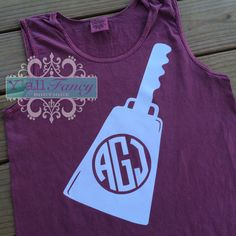 Mississippi State Cowbell Monogram Go Dawgs by YallFancyBoutique, $24.99