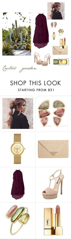 """""""Cactus garden"""" by lisaetrose ❤ liked on Polyvore featuring BROOKE GREGSON, Tory Burch, JNB, Casadei, Pippa Small, Yves Saint Laurent and Dolce&Gabbana"""