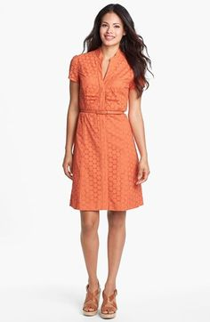 Tahari Eyelet Shirtdress available at #Nordstrom