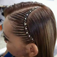 Sorts for Hair Braids Curly Hair Braids, Braids For Long Hair, Curly Hair Styles, Little Girl Hairstyles, Great Hairstyles, Braided Hairstyles, Curly Hair Latina, Girl Hair Dos, Toddler Hair