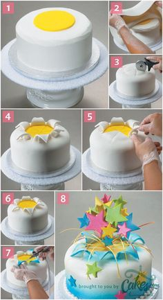 We have Explosion card pattern that would be awesome with this! How-to Make a Fondant Explosion Cake- We have Explosion card pattern that would be awesome with this! How-to Make a Fondant Explosion Cake- Cake Decorating Techniques, Cake Decorating Tutorials, Cookie Decorating, Cake Decorating With Fondant, Decorating Cakes, Decorating Supplies, Decorating Ideas, Cake Cookies, Cupcake Cakes