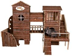 Awesome bunny play zone, from http://www.trixie.de/en/prod/Rabbit_and_Small_Rodent_Bosse_Adventure_Land,13961