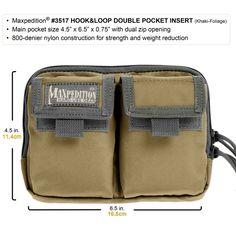 Maxpedition Hook-&-Loop Double Pocket Insert - SKU 3517